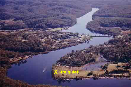 The Riverbend property from the air - CLICK TO GO TO PREVIOUS PAGE